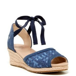 UGG blue Delmar wedge sandals